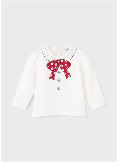 Mayoral Mayoral Kız Bebek Sweatshirt Beyaz
